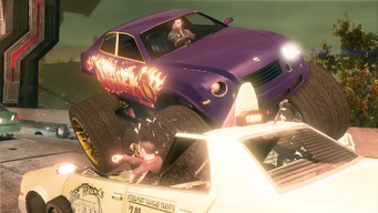 Saints Row IV Announce Teaser - monster truck which is not atlasbreaker