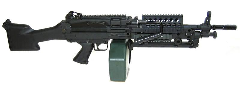 Light Machine Gun Saw Five-Seven combat pistol