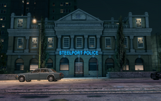Steelport Police building in Camano Place in Saints Row The Third