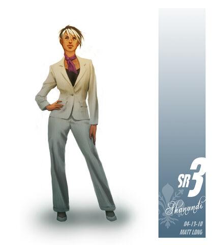 File:White suit Shaundi in Saints Row The Third Concept Art.jpg