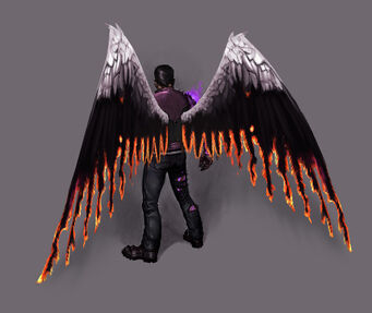 Johnny Gat Concept Art - Gat out of Hell - rear of wings