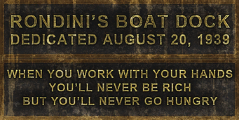 Ronnies boat dock sign d me