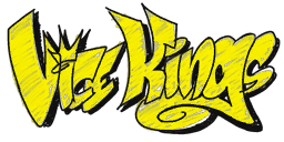 Vice Kings graffiti - yellow shaded
