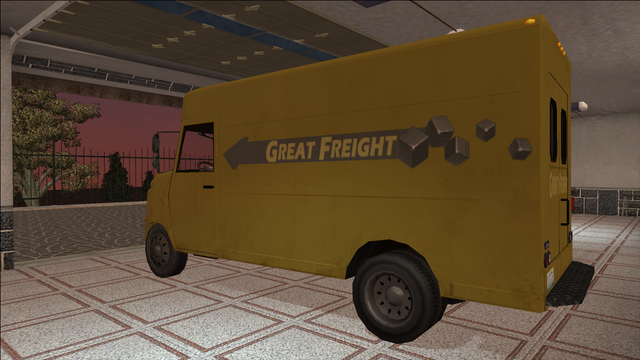 File:Saints Row variants - Delivery Truck - Great Freight - rear left.png