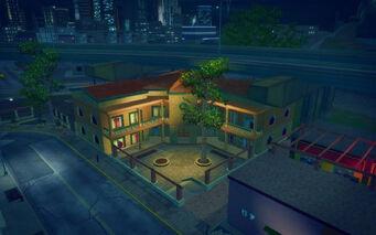 Ezpata in Saints Row 2 - Hacienda crib aerial view