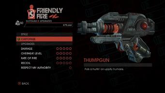 Weapon - Shotguns - Thumpgun - Upgrades