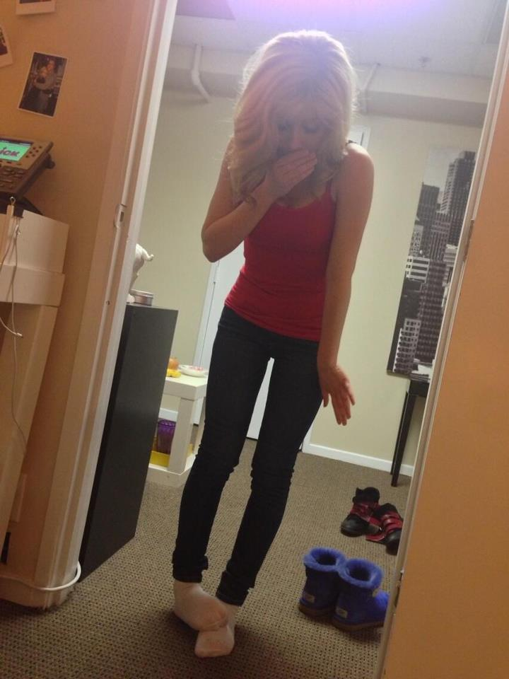 Image Jennette Wearing Matching Socks April 11 2013jpg