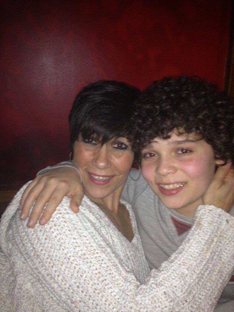 Cameron boyce with his mom