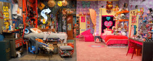 Sam and Cat's bedroom in BabysitterWar