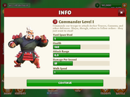 Commander level 1