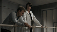 1x01 Helen and Will observing Alexei