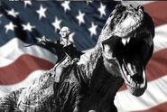 George Washington rode a T-Rex