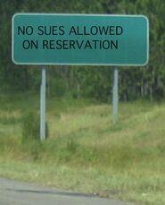 No sues allowed