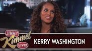 Kerry Washington on Jimmy Kimmel Live PART 1