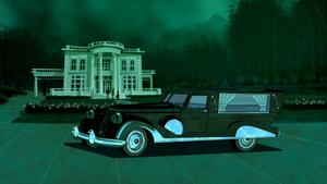 Vincent Van Ghoul's hearse
