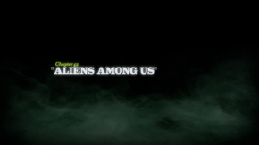 Aliens Among Us title card