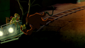 Manticore knocks over gang's ride.png