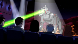 Mecha Mutt fires on audience