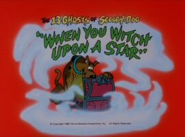 Witch upon a star title card