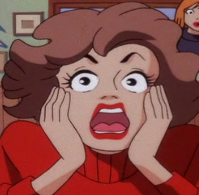 Horrified female customer (Scooby-Doo and the Witch's ...
