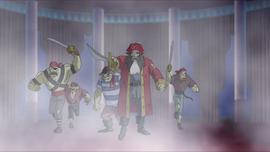 Skunkbeard and crew board the Poseidon