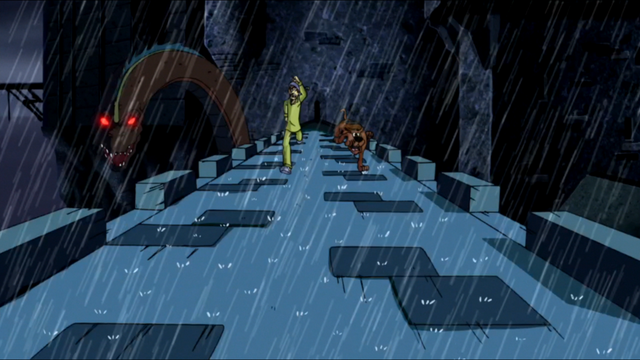 File:Shag and Scoob run on Blake Castle walkway.png