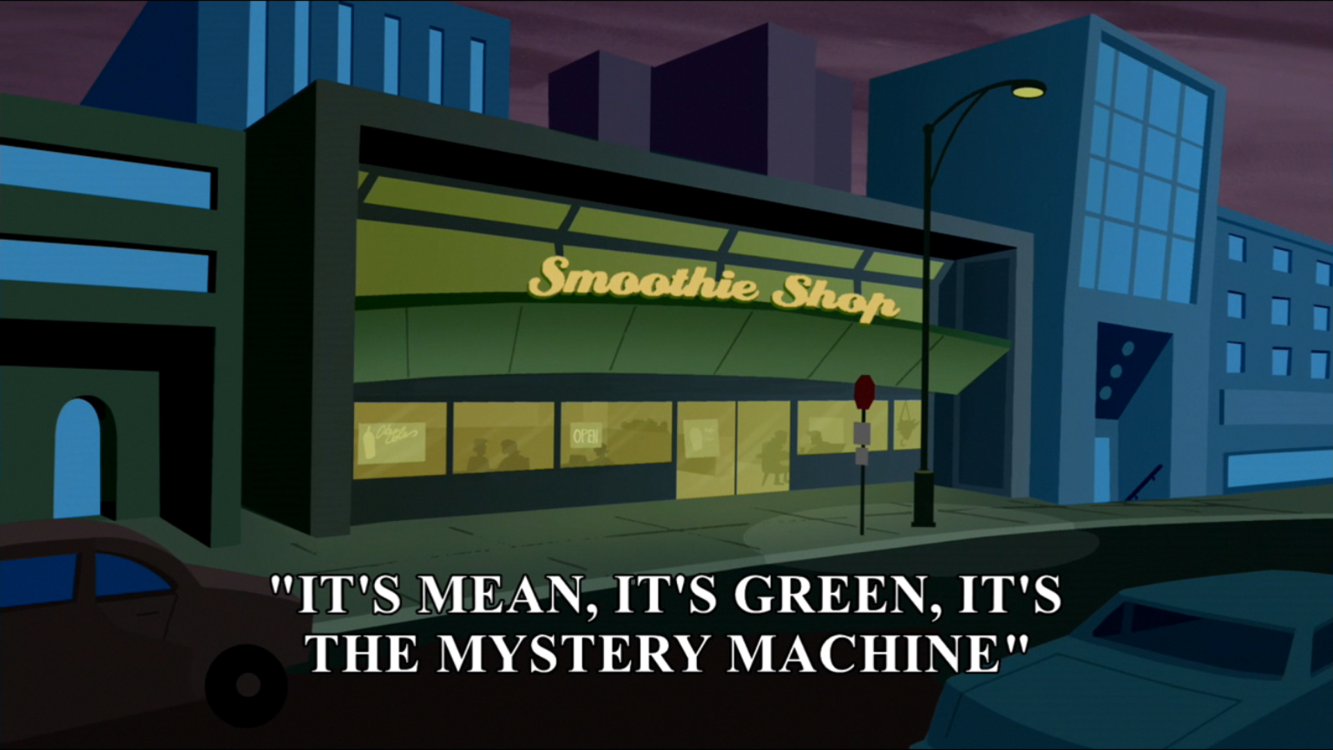 It's Mean, It's Green, It's the Mystery Machine title card