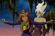 Daphne as the vampire's bride