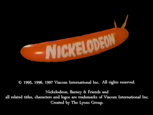 Nickelodeon Logo From 1-2-3-4 seasons
