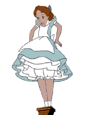 Wendy darling as alice the giantess by darthraner83-d5x62xb