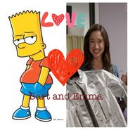 Bart Simpson and Emma Goodall