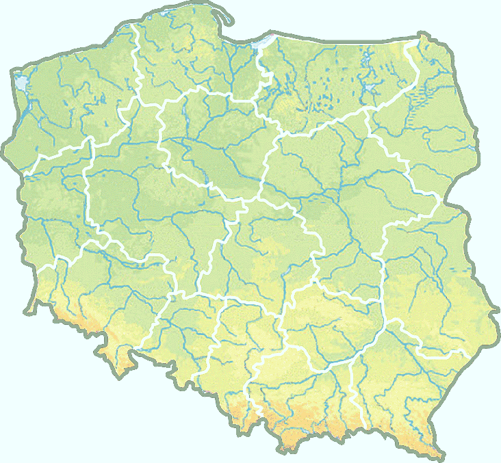 Map of Poland colorful