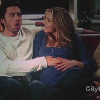 A pregnant Elliot.