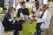 9x11 Denise Drew Turk in cafeteria