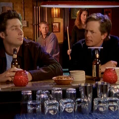J.D. and Casey at the bar
