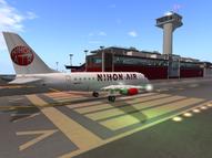 NihonAir takeoff