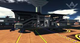 Grenadier Airport Terminal, looking N (10-14)