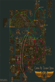 Map - Caledon Air Transportation System