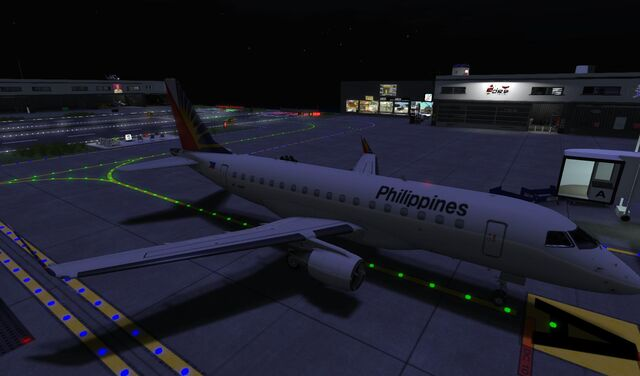 File:Philippine Airlines at first perfect landing at home Airport SLGR at night 02 001.jpg