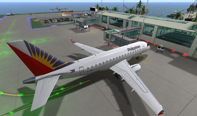 File:Philippine Airlines at bridge at Seychelles Isles National Airport 02 001.jpg