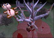 2003 11 03 Hamlet with Scary Tree