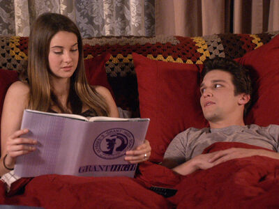 Amy and ricky in bed