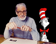 Dr. Seuss and the cat in the hat