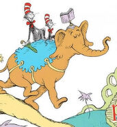 The brown elephant from i can read with my eyes shut
