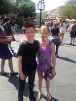 Davis-cleveland-with fan at theme park