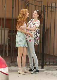 Bella-thorne-laughing-with-pal-in-street