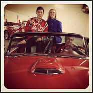 Roshon-fegan-2012-hollywood-christmas-parade-with-caroline-sunshine-2