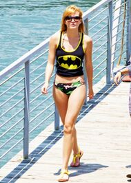 Bella-thorne-batman-top-over-bikini
