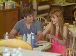 Bella-thorne-with-tristan-in-pink-dress(4)