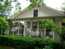Waukegan Hutchins building exterior glass porch